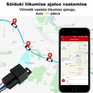 Sõiduki liikumise ajaloo vaatamine on võimalik Mini GPS jälgijaga