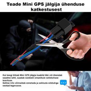 Teade Mini GPS jälgija ühenduse katkestusest